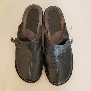 Clarks Artisan Blue Leather Mules 7M